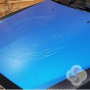 3D Wrap Embossing, color change wrap embossed vehicle graphics