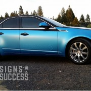 CTS Color Change Wrap with embossing, designed, created in Spokane