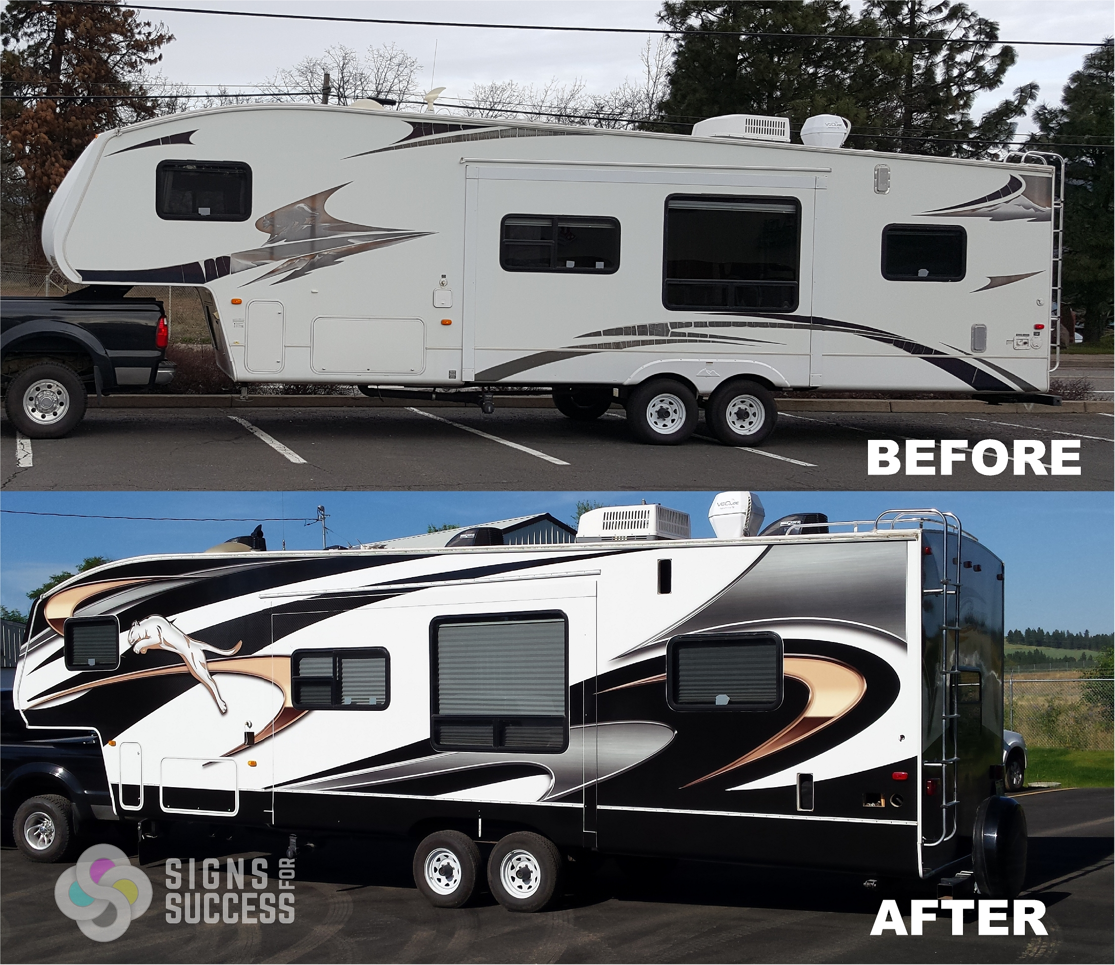 5th wheel rv wrap makeover