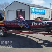 Bass Boat Sponsor Wrap