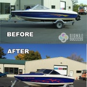 Bayliner Wrap Makeover Before & after