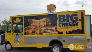 Food Truck Wrap for Big Cheesy