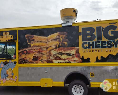 Food Truck Wrap for Big Cheesy