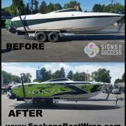 Donzi custom vinyl boat wrap spokane