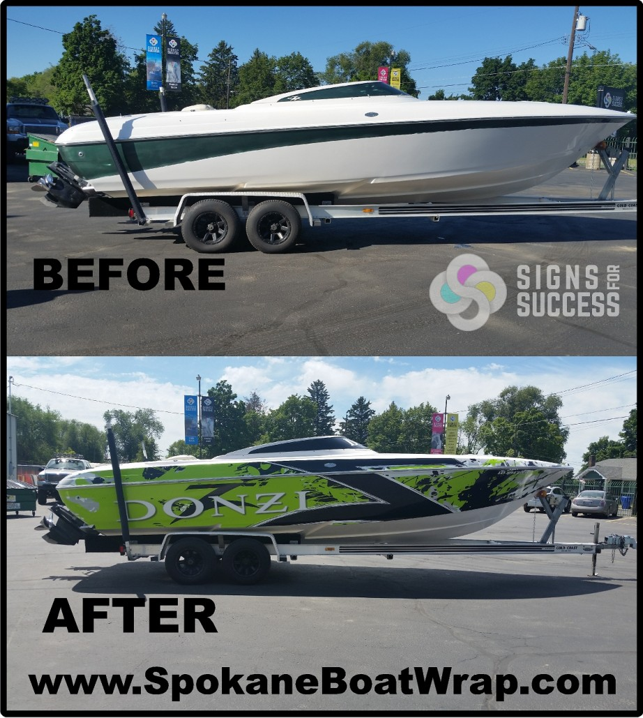 Watercraft Signs For Success - Custom vinyl decals for boat