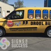 Van Wrap School Bus for Pets,