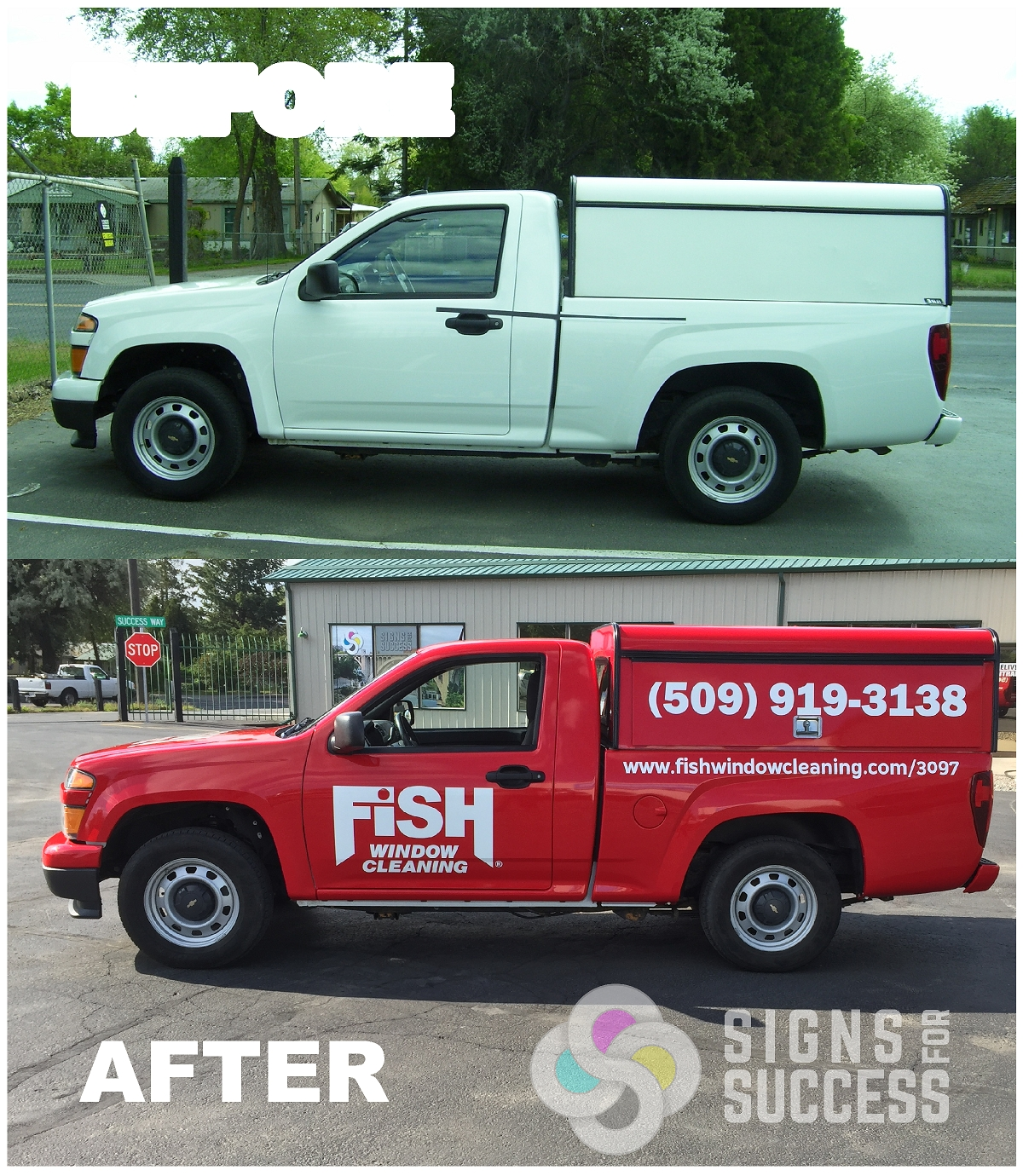 Red Commercial Color Change Wrap for Franchise - Signs for Success