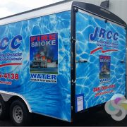 Construction Company Trailer Wrap part of Fleet Graphics