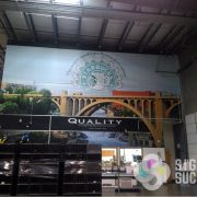 Warehouse Wall Wrap Mural Starbucks