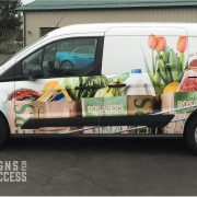 Food Truck Wraps - Grocery Delivery Van Wrap