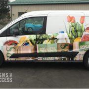 Food Truck Wraps - Grocery Delivery Van Wrap