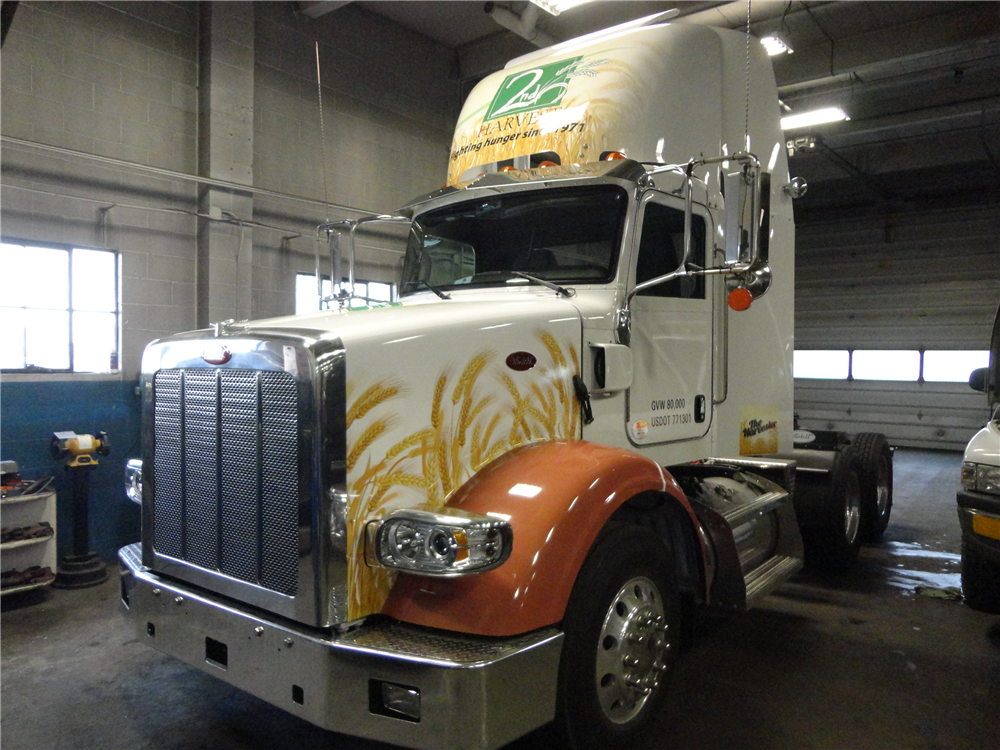 Large vehicles signs for success for Semi truck lettering ideas