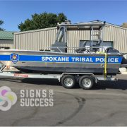 Police Boat graphics-police boat markings-3M graphics