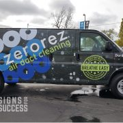 Custom air duct cleaning van wrap for zerorez