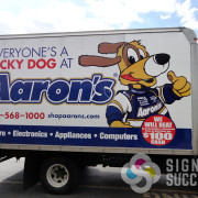 Whether we print graphics here, or your franchise sends graphics to us, we can repair your wrap