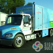 If you need lettering cut vinyl or wrap printed vinyl for semi or container, call Signs for Success in Spokane, WA