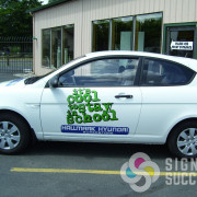 When you want to advertise an event, print & cut vinyls on your car are a hit with dealerships and students in spokane area
