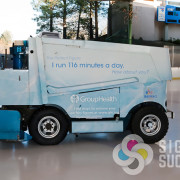 Wrap a Zamboni, it takes a dedicated staff to make a custom template, design elements, print and wrap a custom vehicle like this in Spokane and Coeur d'Alene