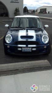 Signs for Success can add Rally Stripes to any car, almost any color, let us help you with that design