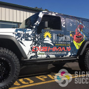 Market Vision ad agency designed this custom wrap for Dishman Dodge advertising for Mt. Spokane ski and snowboard park in Spokane and Greenbluff, vehicle wraps spokane