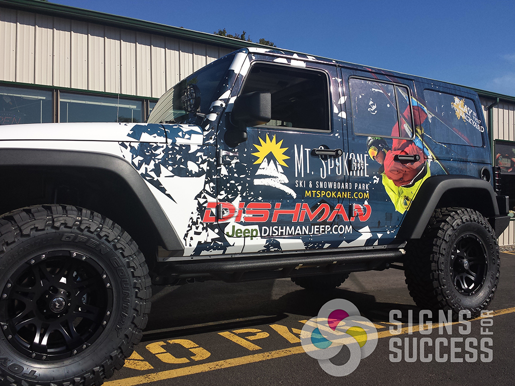 Jeep Wrangler 2 Door 5 Steps to a Perfect Vehicle Wrap - Signs for Success