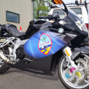 High performance printed vinyl that contours to the curves of your vehicle allowed us to wrap this motorcycle gas tank in Spokane