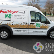 2nd Harvest in Spokane and Tri Cities, WA had Signs for Success wrap their Transit van