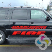 Airway Heights Fire Department added red reflective lettering to their fleet by Signs for Success in Spokane