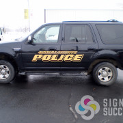 Reflective lettering for Fire Department, Police Department, Ambulances, Aid vehicles in Spokane and Airway Heights