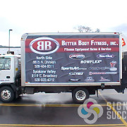 Better Body Fitness had Signs for Succes design, print, and install this great advertising wrap for their box truck.