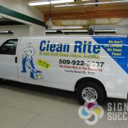 Custom design looks great for Clean Rite Carpet Cleaning in Spokane and Airway Heights, fleet wraps