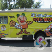 Signs for Success can wrap your food truck in Spokane like this one for Little Caesars