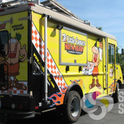 Food Truck wrap for Little Caesars in Spokane