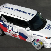 """When Global Credit Union wanted Signs for Success to wrap two vehicles in Spokane, we said """"Yes!"""" it was fun, fast signs spokane, car wraps spokane"""