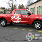 Custom printed graphics that are contour cut can look like a good paint job, even when it's just a partial wrap in Spokane
