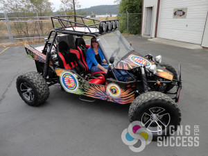 Dune Buggy Wrap, custom designed and installed by Signs for Success in Spokane