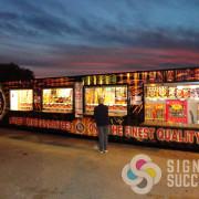 We designed, printed, and wrapped this shipping container for Discount Fireworks, Oroville, WA in Spokane, container wrap