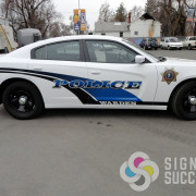 Add reflective lettering and logos to your police vehicle fleet in Spokane and Davenport