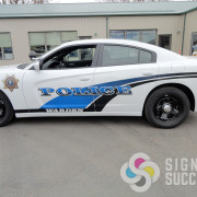 Custom printed reflective vinyl for Warden Police by Signs for Success in Spokane, WA