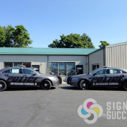 Spokane Tribe has their whole fleet lettered by Signs for Success in Spokane with printed reflective vinyl