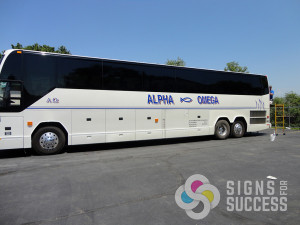 Signs for Success can wrap or or put letter graphics and striping on your large vehicles and trucks in Spokane and Cheney, semi truck lettering