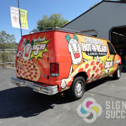 When you see this great, custom food truck wrap for Little Caesars in North Spokane, Think of Signs for Success, franchise food truck wraps