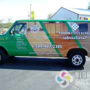 Signs for Success made this old broken down van look like a million dollars with a custom wrap