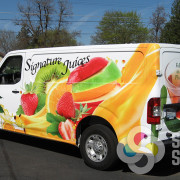 Advertising wrap for Food Services of America in Spokane by Signs for Success, vehicle graphics spokane