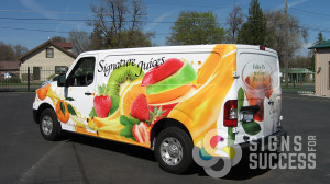 Advertising wrap for Food Services of America in Spokane by Signs for Success.
