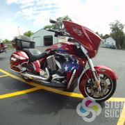 Custom Design, Custom Bike, Custom install on motorcycle in Spokane, WA