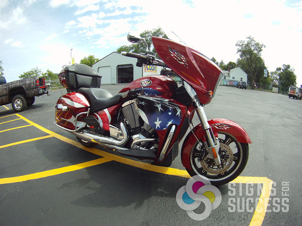Custom AllAmerican Motorcycle Graphics Signs For Success - Vinyl graphics for motorcycles