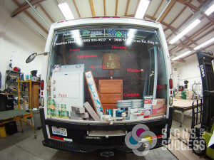 Wrap the back of your van or truck with a custom unique wrap graphic by Signs for Success Spokane, custom van wrap