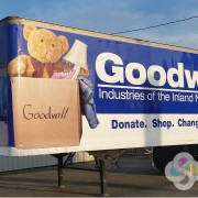 This complete semi trailer wrap for Good Will Industries for their donation stations