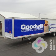 Semi Trailer Wrap for Good Will Donation Station